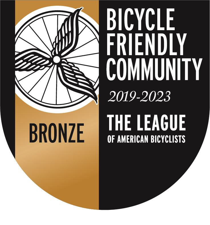 Bicycle Friendly Communities Bronze for 2019-2023 Opens in new window
